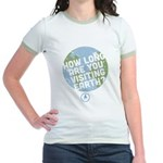 How Long Are You Visiting Earth Jr. Ringer T-Shirt