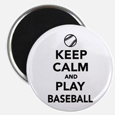 """Keep calm and play Baseball 2.25"""" Magnet (10 pack)"""