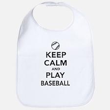 Keep calm and play Baseball Bib