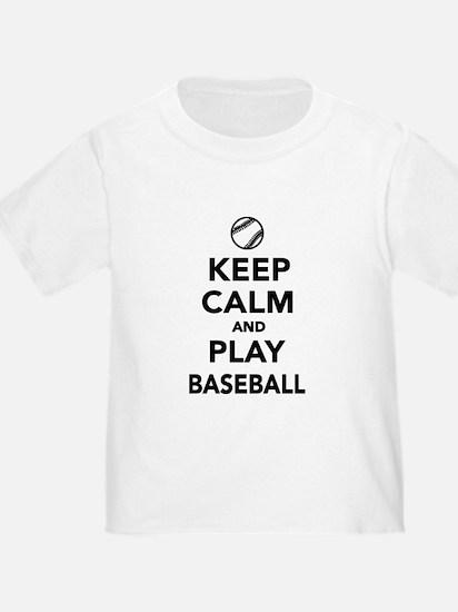 Keep calm and play Baseball T