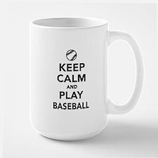 Keep calm and play Baseball Large Mug