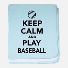 Keep calm and play Baseball baby blanket