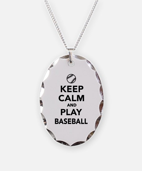 Keep calm and play Baseball Necklace