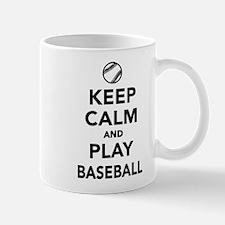 Keep calm and play Baseball Small Small Mug