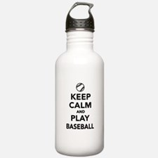 Keep calm and play Baseball Water Bottle
