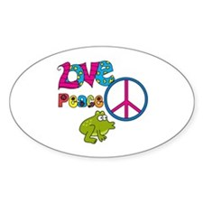 Love Peace Frogs Decal