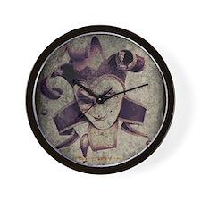 renaissance joker Wall Clock