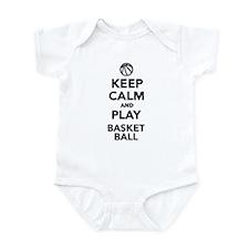 Keep calm and play Basketball Infant Bodysuit