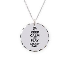 Keep calm and play Basketball Necklace