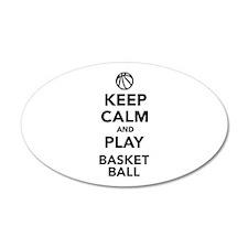 Keep calm and play Basketball Wall Decal