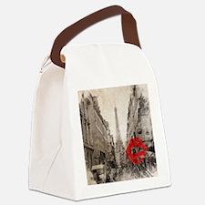 vintage eiffel tower paris Canvas Lunch Bag
