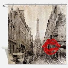 vintage eiffel tower paris Shower Curtain