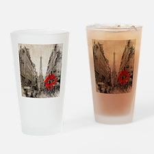 vintage eiffel tower paris Drinking Glass