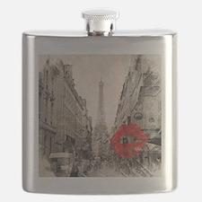 vintage eiffel tower paris Flask