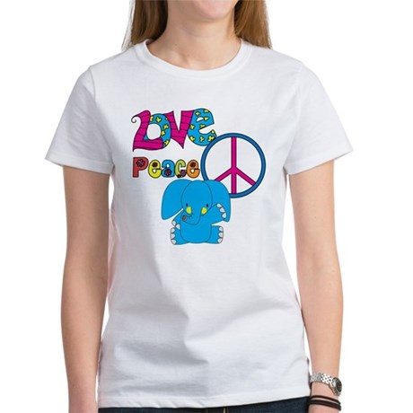 Love Peace Elephants Women's T-Shirt