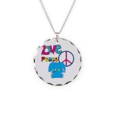 Love Peace Elephants Necklace