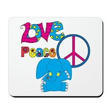Love Peace Elephants Mousepad