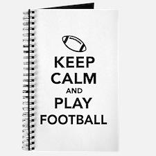 Keep calm and play Football Journal