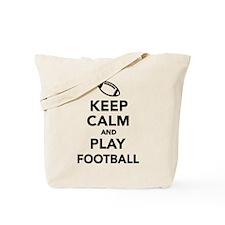 Keep calm and play Football Tote Bag