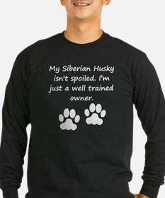 Well Trained Siberian Husky Owner Long Sleeve T-Sh