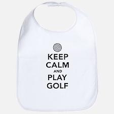 Keep calm and play Golf Bib
