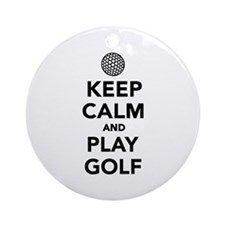 Keep calm and play Golf Ornament (Round)