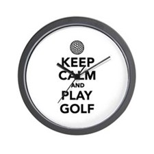 Keep calm and play Golf Wall Clock