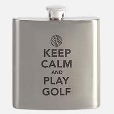 Keep calm and play Golf Flask