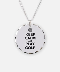 Keep calm and play Golf Necklace