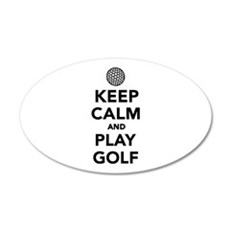 Keep calm and play Golf Wall Decal