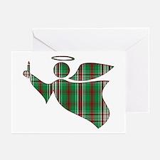 Christmas Plaid Angel Greeting Cards