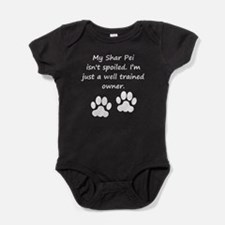 Well Trained Shar Pei Owner Baby Bodysuit