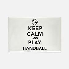 Keep calm and play Handball Rectangle Magnet