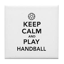 Keep calm and play Handball Tile Coaster
