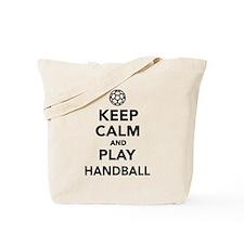 Keep calm and play Handball Tote Bag