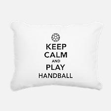 Keep calm and play Handball Rectangular Canvas Pil