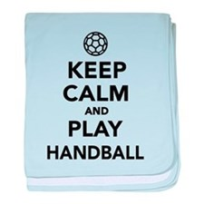 Keep calm and play Handball baby blanket