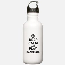 Keep calm and play Handball Water Bottle