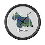 Terrier - Duncan Large Wall Clock