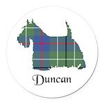 Terrier - Duncan Round Car Magnet