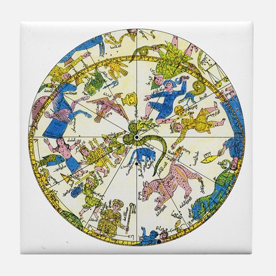 Vintage Celestial Map Tile Coaster