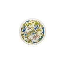 Vintage Celestial Map Mini Button