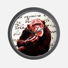 funny chimpanzee  Wall Clock