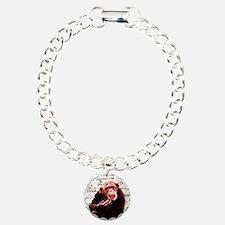 funny chimpanzee  Charm Bracelet, One Charm