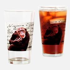 funny chimpanzee  Drinking Glass