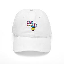 Love Peace Cupcakes Baseball Cap