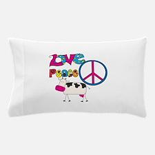 Love Peace Cows Pillow Case