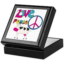 Love Peace Cows Keepsake Box