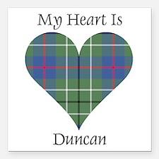 "Heart - Duncan Square Car Magnet 3"" x 3"""