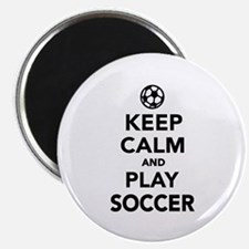 """Keep calm and play Soccer 2.25"""" Magnet (10 pack)"""